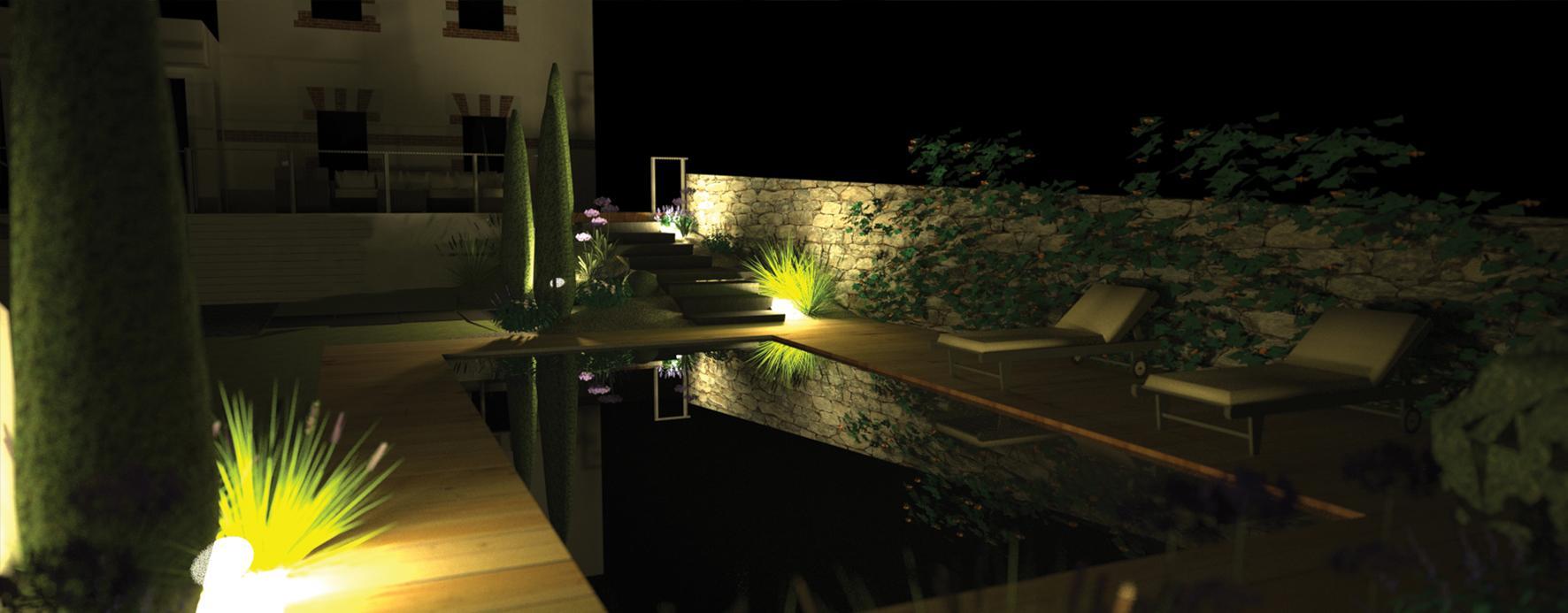 Jardin 3d dreamis - Jardin romantique nuit perpignan ...