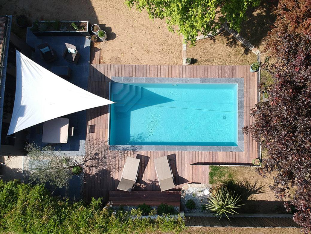 piscine vue du ciel saint brévin les pins terrasse exotique